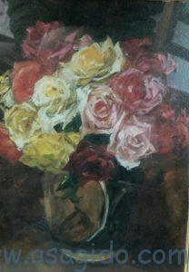 刑部人油彩の静物、絵画です